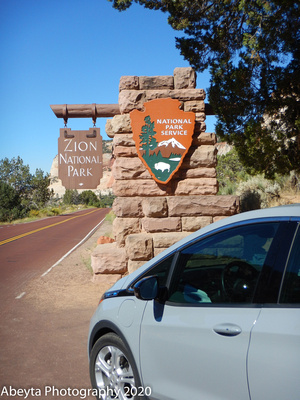 202008 Zion Monument Sign (2) - Web - Chevy Bolt Road Trip
